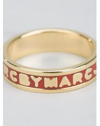 Marc By Marc Jacobs | Metallic 'dreamy' Logo Ring | Lyst