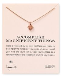 """Dogeared - Metallic Accomplish Magnificent Things Necklace, 18"""" - Lyst"""