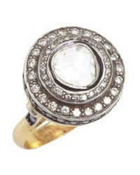 Amrapali | Metallic Diamond And Gold 'color Stone' Cocktail Ring | Lyst