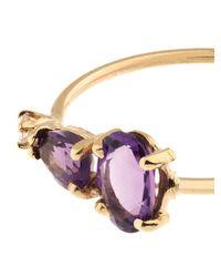 Loren Stewart - Purple Diamond, Amethyst & Yellow-Gold Ring - Lyst