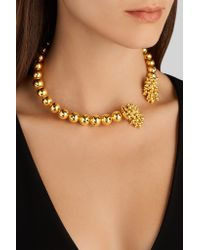 Paula Mendoza - Metallic One Round Ball Gold-plated Choker - Lyst