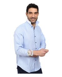 Robert Graham | Blue Kinship Long Sleeve Woven Shirt for Men | Lyst
