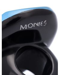 Monies | Blue Round Facet Ring | Lyst