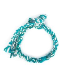 The Elder Statesman | Green Double Wrap Bracelet for Men | Lyst