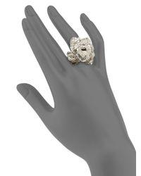 Alexander McQueen | Metallic Forest Skull Ring/silvertone | Lyst