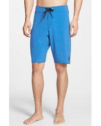 Volcom - Blue 'Static Mod' Board Shorts for Men - Lyst