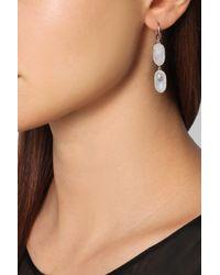 Monica Vinader - Pink Vega Rose Gold-Plated, Diamond And Moonstone Earrings - Lyst