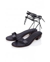 Tibi | Black Astrid Lace Up Sandals | Lyst