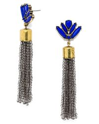 BaubleBar | Metallic 'acid' Fringe Tassel Drop Earrings | Lyst