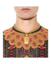 Valentino | Metallic Scarab Necklace | Lyst