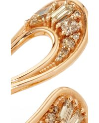 Fernando Jorge - Metallic Stream Long Ring Brown In Diamonds - Lyst