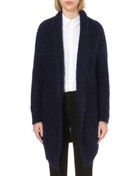 Maje | Blue Menphis Mohair-blend Cardigan | Lyst