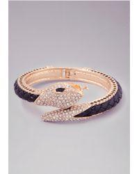 Bebe | Metallic Snake Hinge Bracelet | Lyst