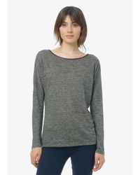 Vince | Gray Long Sleeve Drop Shoulder With Washable Leather Lining | Lyst