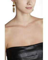 BCBGMAXAZRIA - Metallic Faceted Metal Stone Earrings - Lyst