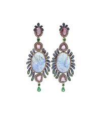 Wendy Yue | Pink Carved Tanzanite Earrings | Lyst