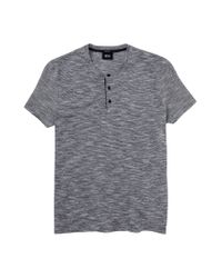 BOSS - Blue Varied Stripe Short Sleeve T Shirt for Men - Lyst