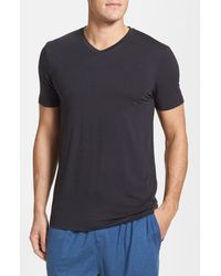 Michael Kors | Black Stretch Modal V-neck T-shirt for Men | Lyst