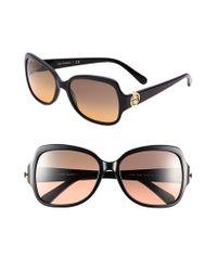 Tory Burch - Black 'glam' 57mm Logo Hinge Sunglasses - Lyst