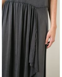 MM6 by Maison Martin Margiela - Gray Asymmetric Pleated Dress - Lyst