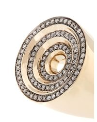 Noor Fares | Gray Eternity Step Gold & Diamond Ring | Lyst