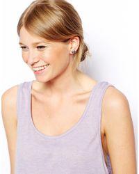 ASOS - Metallic Unicorn Stud Earrings - Lyst