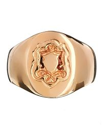 ASOS - Metallic Rose Gold Plated Pinky Ring - Lyst