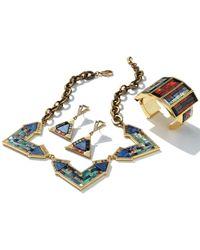 Lulu Frost - Blue Petra Triangle Mosaic Drop Earrings - Lyst