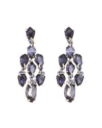 Alexis Bittar | Blueberry Marquis Kite Chandelier Earring | Lyst