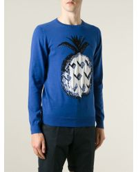 Paul & Joe | Blue Pineapple Intarsia Sweater for Men | Lyst