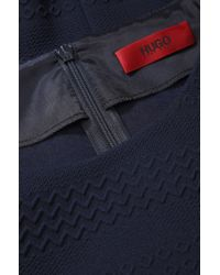 HUGO Blue Top In Stretchy Material: 'cianes'