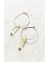 Urban Outfitters - Green Cosmic Dreams Crystal Hoop Earring - Lyst