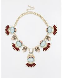 Oasis | Blue Deco Fan Collar Necklace | Lyst