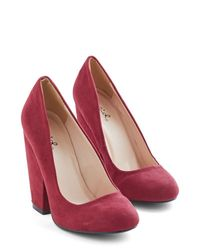 East Lion Corp/Qupid - Red Fit For A Fashionista Heel In Burgundy - Lyst