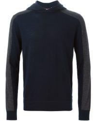 Michael Kors - Blue Hooded Sweater for Men - Lyst
