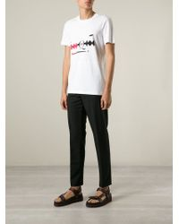 McQ - White Razor-Print T-Shirt for Men - Lyst