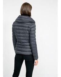 Mango | Gray Waterproof Feather-Down Coat | Lyst