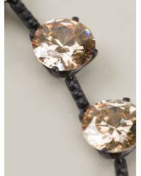 Bottega Veneta - Black Round Necklace - Lyst