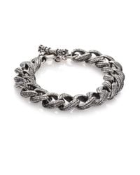King Baby Studio | Metallic Engraved Link Bracelet | Lyst
