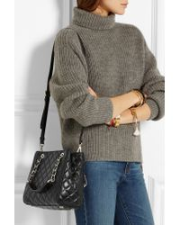 MICHAEL Michael Kors | Black Susannah Small Quilted Tote | Lyst