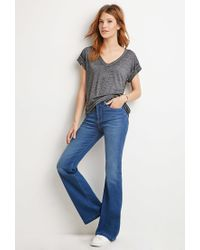 Forever 21 | Gray Contemporary Heathered Box Pleat Tee | Lyst