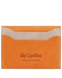 Ally Capellino - Orange Tom Leather Cardholder for Men - Lyst