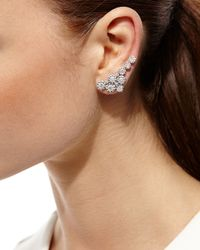 YEPREM | Multicolor 18k White Gold Diamond Climber Earrings | Lyst