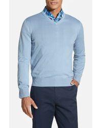 Robert Talbott   Blue Classic Fit V-neck Sweater for Men   Lyst