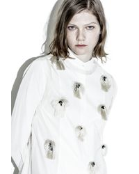 3.1 Phillip Lim - Natural Sleeveless Top With Fil Coupe Embellishment - Lyst
