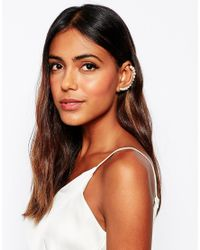 SELECTED | Metallic Maggie Faux Pearl Ear Cuff | Lyst