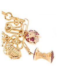 Aurelie Bidermann | Yellow Diamond, Ruby, Sapphire & Tsavorite Gold Bracelet | Lyst