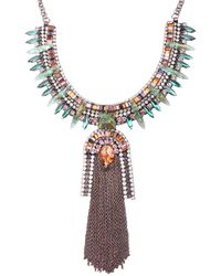 Deepa Gurnani | Blue Technicolor Gypsy Necklace | Lyst