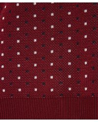 Rag & Bone - Red Burgundy Diamond Jacquard Knit Jumper - Lyst
