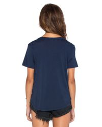 Splendid - Blue Cotton-blend Top - Lyst